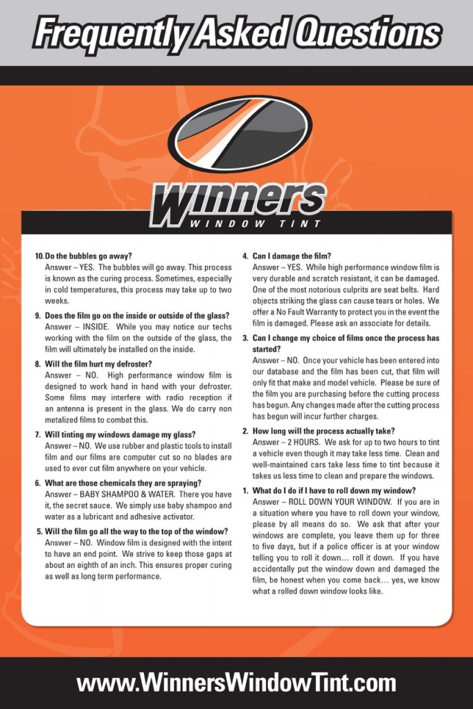 WinnersFAQs