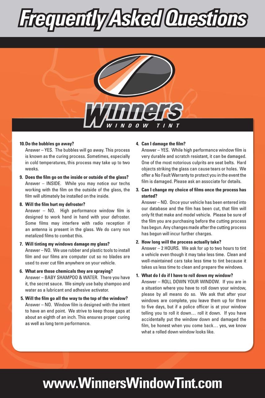 Winners Window Tinting Car Tinting Md Va Washington Dc Pre Post