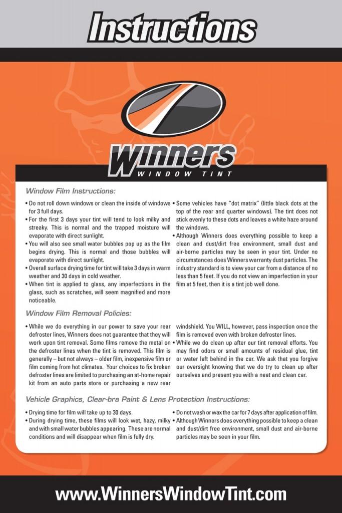 WinnersInstructions
