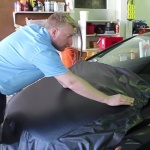 A Fun Carbon Fiber Hood Wrap Installation